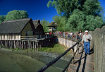 [GERMANY.BAWU 00726] 'Stone Age village.'  West African huts? Rather a German Stone Age lake-dwelling, reconstructed in the Pfahlbau open air museum in Unteruhldingen. Photo Paul Smit.