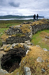 [BRITAIN.HEBRIDES 27825] ?Dun Beag Broch.?  From the circular wall of Dun Beag Broch near Bracadale you have a fine view of the west coast of Skye. Brochs were tower-like buildings a ...