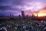 [BRITAIN.HEBRIDES 27686] ?Stone circle of Callanish III.?  On the shore of East Loch Roag, an estuary along the north coast of Lewis, you can find several neolithic stone circles. Th ...